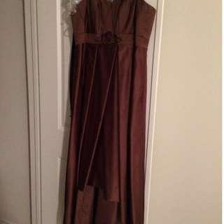 Mocha Dress (High Low Style)