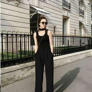 Alice Wang Flare pants black M