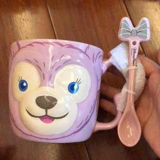 🚚 迪士尼雪莉玫馬克杯 附攪拌棒