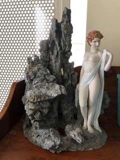Vintage Stone & lady display
