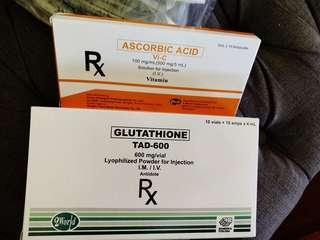 Tad Gluthathione IV with Vit C, COMPLETE SET