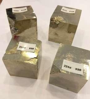 Natural Pyrite Cubes (Spain)