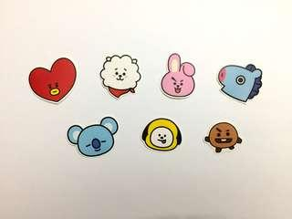 BT21 Sticker Pack (7pcs)