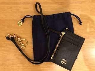 🈹 Tory Burch Cardholder with Lanyard (Black)