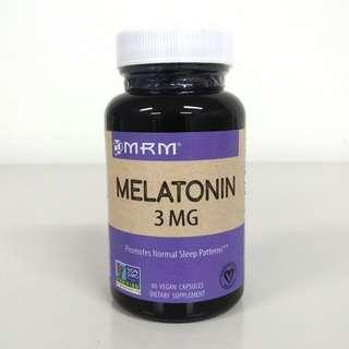 MRM, 3mg Melatonin, 60 Vegan Capsules / Helps sleep cycle / Vegetarian