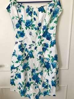 🚚 BN Zalora Floral Print Offshoulder Dress Size S with tag!
