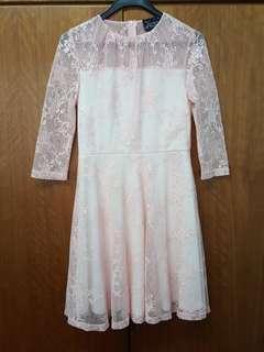 Full Lace Pink Dress