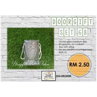 Doorgift Crystal Glass Simple Box Design