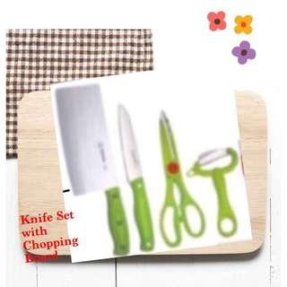 Kitchen Knife Set with Chopping Board