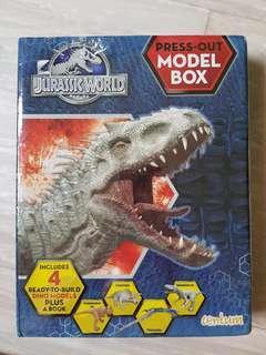 Jurassic world press out model box