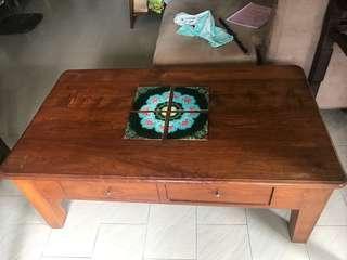 Solid Wood Coffee Table 69cm x45cm x118cm
