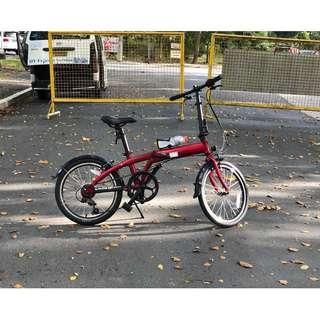 Tern Link A7 Red Folding Bike