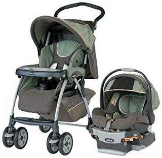 Pre-loved: Chicco Travel System (Stroller and Carrier/Car Seat)