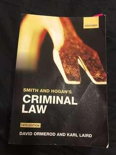 Smith and Hogan's Criminal Law (plus one free book)