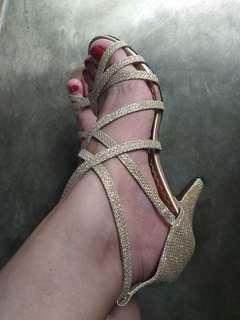 Zanea gold heels