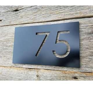 🆕🆒 BLACK HOUSE NUMBERS MODERN ADDRESS PLAQUE SIZE OPTIONS CUSTOM MADE