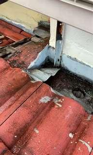Bumbung repair,wiring,plumbing,painting dan tiling