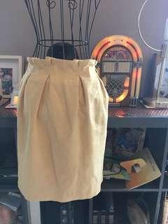 Linen yellow skirt