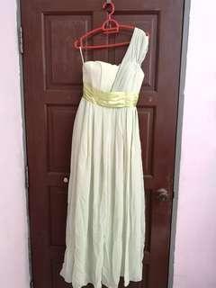 Bridesmaid Dress. Apple green dress