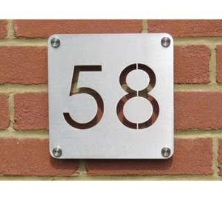 🆒🆕 Stainless Steel Custom Made Laser Cut House Signs, Numbers and Plaques