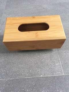 brand new wooden tissue box
