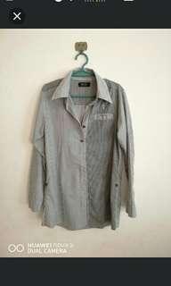 Stripe button down long sleeve polo / polo dress