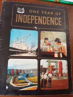 1966 one year of independence book Singapore
