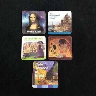 🔸Set of 6 Artwork Coasters