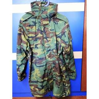 Army Camou Goretex Jacket Windproof Waterproof Size S