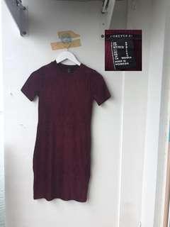 f21 velvet dress