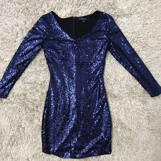 Sequin vneck bodycon dress
