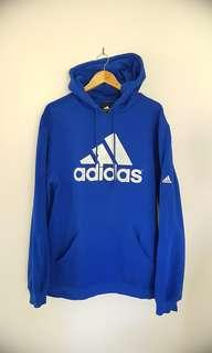 Adidas Blue Hoodie L Men's Authentic Sweater Top