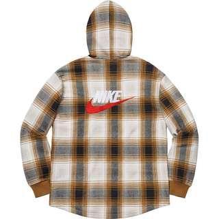 Supreme®/Nike® Plaid Hooded Sweatshirt (Mustard)