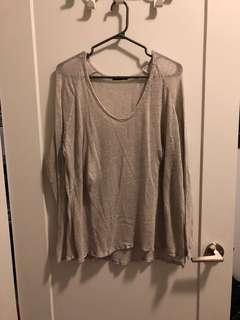 White Mesh Brandy Melville Shirt