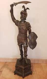 Ancient warrior display statue - well kept