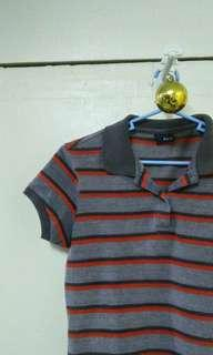 Blued polo shirt for women