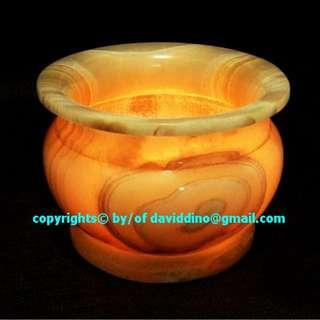 ~~~VeRy OLD  VinTaGe SoLId Jade BowL  (CanDLe StanD/HoLder)  ~~~