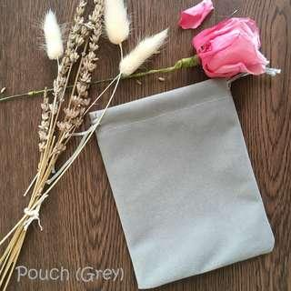 Flannel Grey Pouch