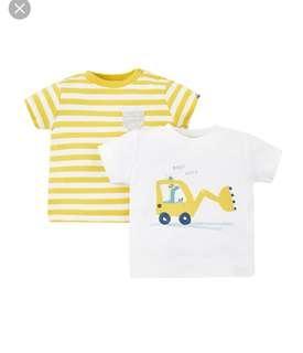 🚚 BN Mothercare Stripe Digger 2 Pack Set