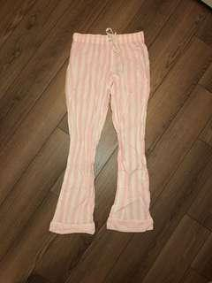 Pink and White Stripped Victoria's Secret PJ Pants