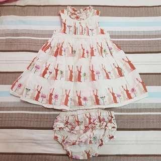 Next Baby Rabbit Dress with undergarment