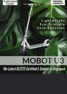 U3 UL2272 Certified Electric Scooter. Click on link to purchase w free same day delivery & free LTA ID