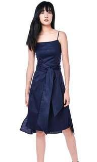 💙 Jolivia Side-Ruched Midi Dress