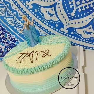 Custom Frozen Elsa Cake