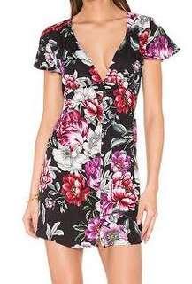 Black Auguste floral dress