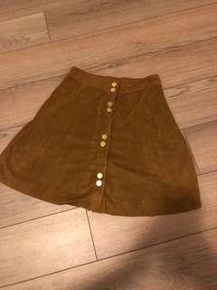 Dynamite Suede Button-Up Skirt