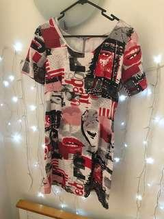 Comic strip dress