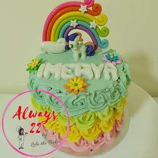 Custom Pony Rosette Cake