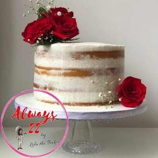Custom Semi Naked Rose Cake