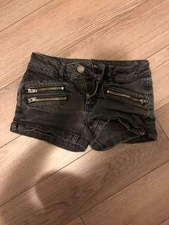 Black American Eagle Jean Shorts